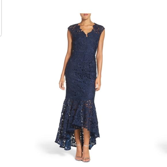 "Shoshanna Dresses & Skirts - Shoshanna ""Regina"" Lace High/Low Gown"
